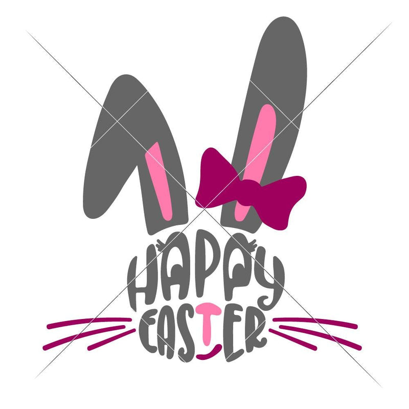 Happy Easter Bunny Face Girl Svg Png Dxf Eps Svg Dxf Png Cutting File