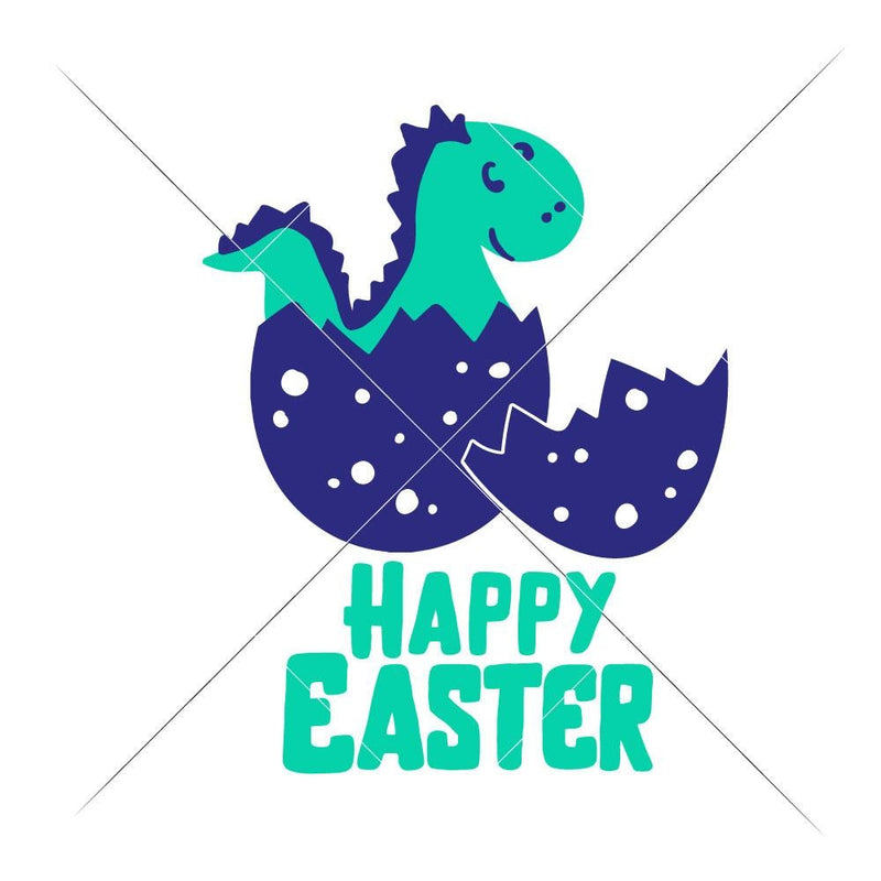Happy Easter Dinosaur Svg Png Dxf Eps Svg Dxf Png Cutting File
