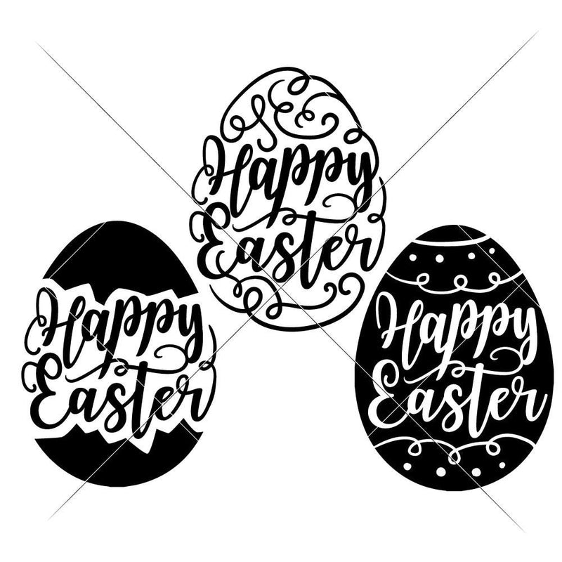 Happy Easter Eggs Svg Png Dxf Eps Svg Dxf Png Cutting File
