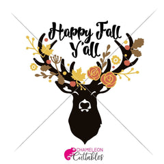 Happy Fall Yall Deer Svg Png Dxf Eps Svg Dxf Png Cutting File