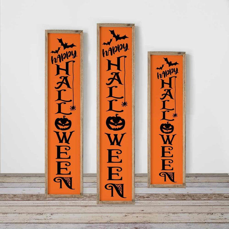 Happy Halloween vertical for door sign svg png dxf SVG DXF PNG Cutting File