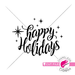 Happy Holidays for round sign svg png dxf eps jpeg SVG DXF PNG Cutting File