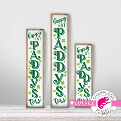 Happy St. Patty's Day vertical Porch design svg png dxf SVG DXF PNG Cutting File