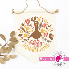 Happy Thanksgiving Turkey svg png dxf eps jpeg SVG DXF PNG Cutting File