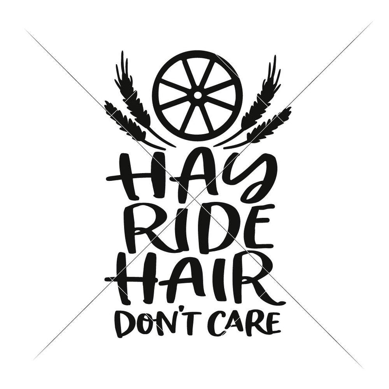 Hay Ride Hair Svg Png Dxf Eps Svg Dxf Png Cutting File
