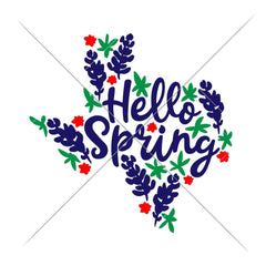 Hello Spring Texas Bluebonnets Svg Png Dxf Eps Svg Dxf Png Cutting File