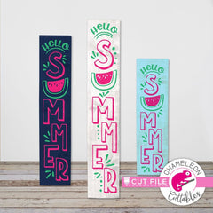 Hello Summer Watermelon vertical svg png dxf SVG DXF PNG Cutting File
