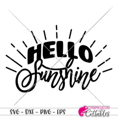 Hello Sunshine Svg Png Dxf Eps Svg Dxf Png Cutting File