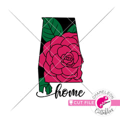 Home Alabama state flower Camellia layered svg png dxf eps jpeg SVG DXF PNG Cutting File