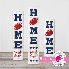Home Football vertical svg png dxf SVG DXF PNG Cutting File