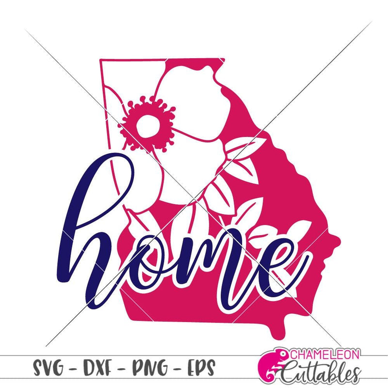 Home Georgia Cherokee Rose svg png dxf eps SVG DXF PNG Cutting File