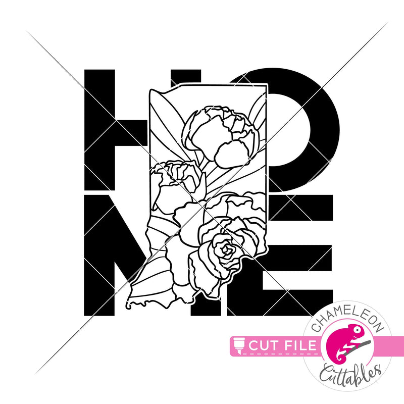 Home Indiana state flower peony square svg png dxf eps jpeg SVG DXF PNG Cutting File