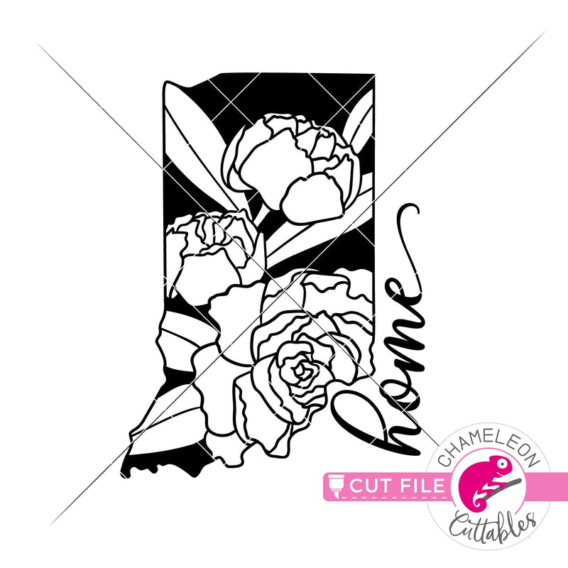Home Indiana state flower peony svg png dxf eps jpeg SVG DXF PNG Cutting File