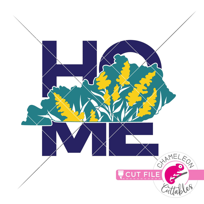 Home Kentucky state flower goldenrod square svg png dxf eps jpeg SVG DXF PNG Cutting File