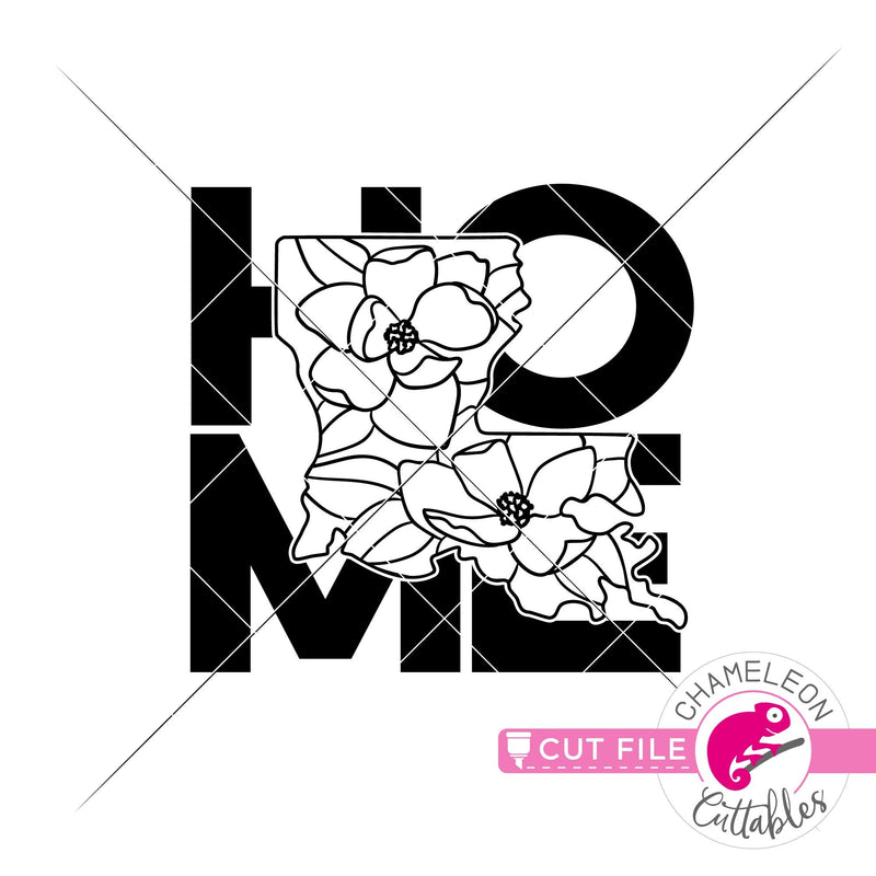 Home Louisiana state flower magnolia square svg png dxf eps jpeg SVG DXF PNG Cutting File