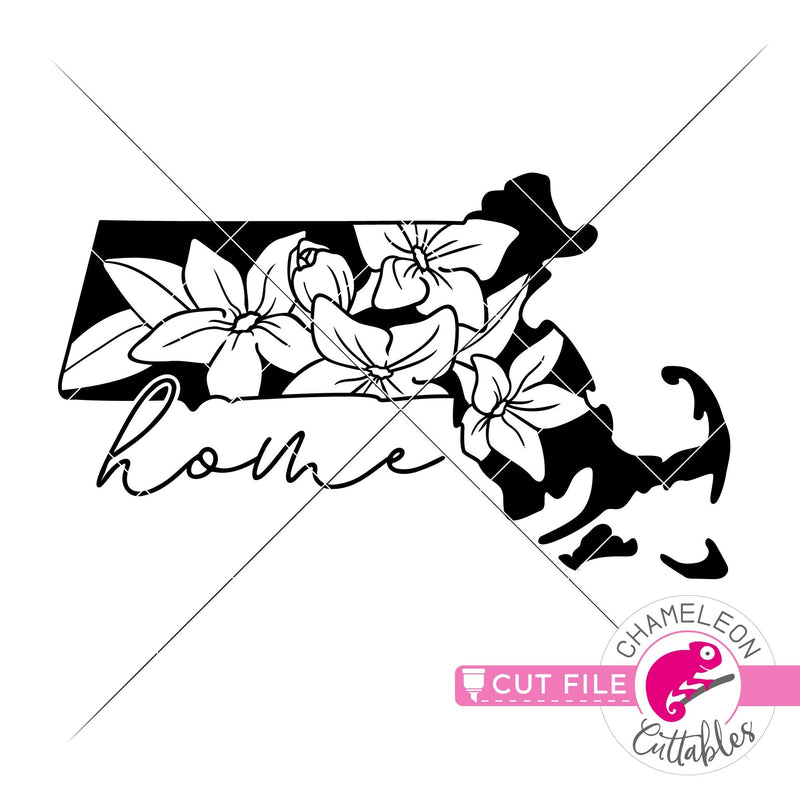 Home Massachusetts state flower mayflower svg png dxf eps jpeg SVG DXF PNG Cutting File