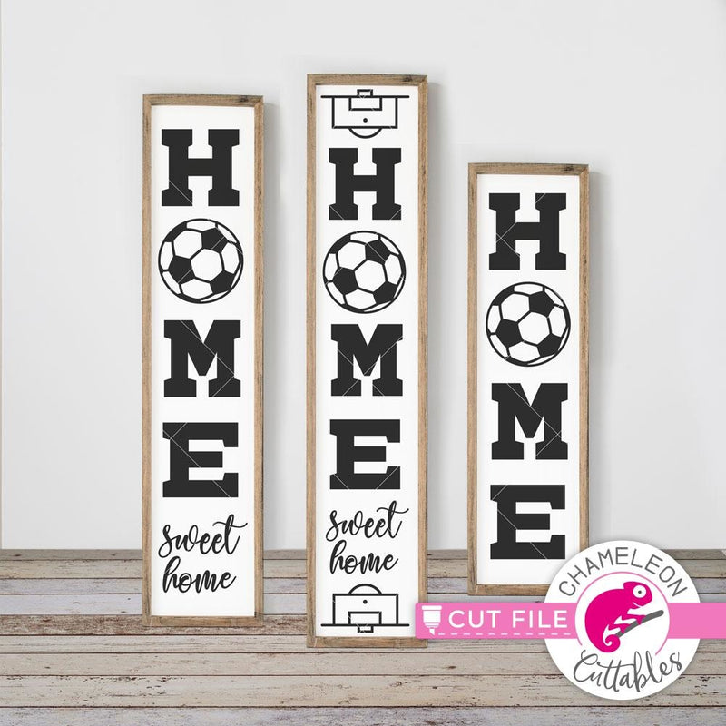 Home Soccer vertical svg png dxf SVG DXF PNG Cutting File
