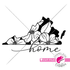 Home Virginia state flower dogwood svg png dxf eps jpeg SVG DXF PNG Cutting File