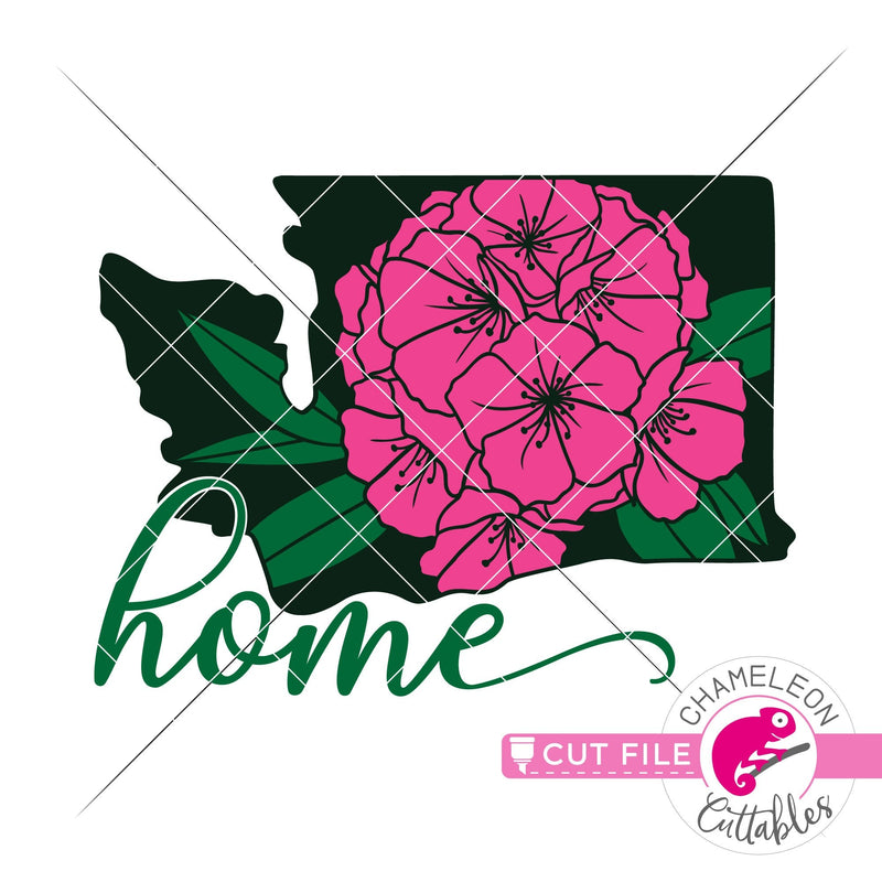 Home Washington state flower rhododendron layered svg png dxf eps jpeg SVG DXF PNG Cutting File