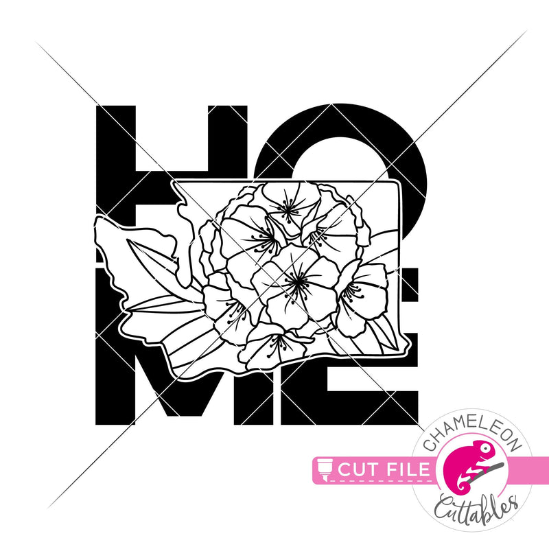 Home Washington state flower rhododendron square svg png dxf eps jpeg SVG DXF PNG Cutting File