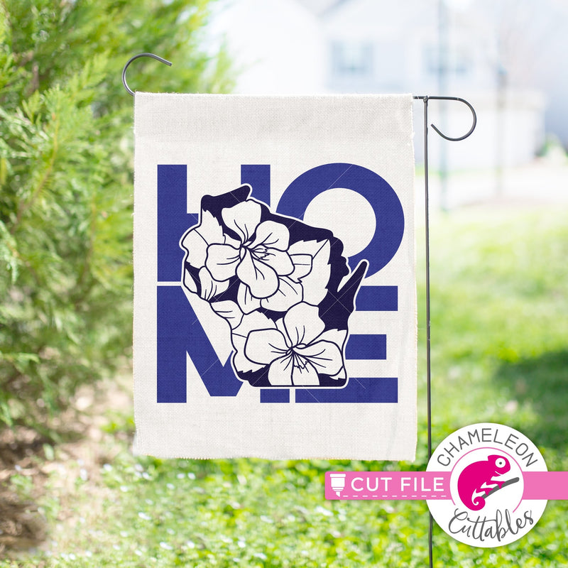 Home Wisconsin state flower blue violet square svg png dxf eps jpeg SVG DXF PNG Cutting File