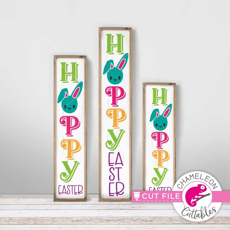 Hoppy Easter Bunny vertical Porch design svg png dxf SVG DXF PNG Cutting File