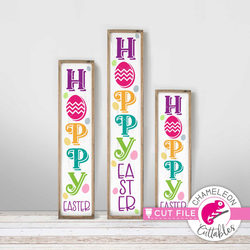Hoppy Easter Egg vertical Porch design svg png dxf SVG DXF PNG Cutting File