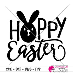 Hoppy Easter Svg Png Dxf Eps Svg Dxf Png Cutting File