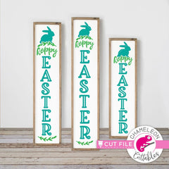 Hoppy Easter vertical svg png dxf SVG DXF PNG Cutting File