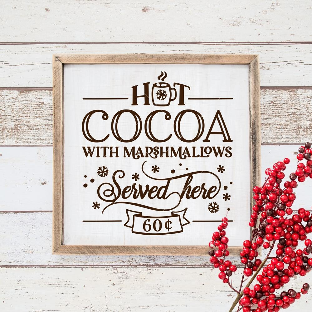 Hot Cocoa With Marshmallows Svg Png Dxf Eps Chameleon Cuttables Llc