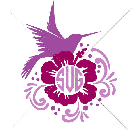 Hummingbird for Monogram multi color svg png dxf eps