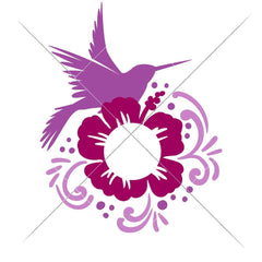 Hummingbird For Monogram Multi Color Svg Png Dxf Eps Svg Dxf Png Cutting File