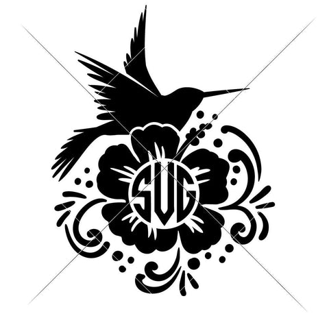 Hummingbird for Monogram svg png dxf eps