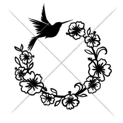 Hummingbird Wreath svg png dxf eps