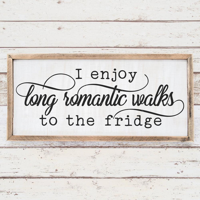 I Enjoy Long Romantic Walks To The Fridge Svg Png Dxf Eps Svg Dxf Png Cutting File