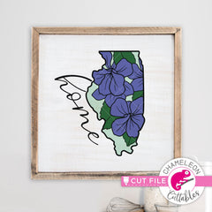 Illinois state flower violet home svg png dxf eps jpeg SVG DXF PNG Cutting File