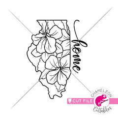 Illinois state flower violet outline svg png dxf eps jpeg SVG DXF PNG Cutting File