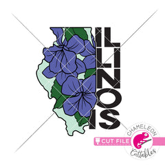Illinois state flower violet svg png dxf eps jpeg SVG DXF PNG Cutting File