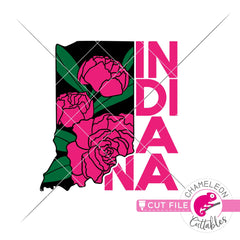 Indiana state flower peony svg png dxf eps jpeg SVG DXF PNG Cutting File