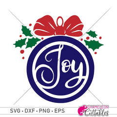 Joy Ornament Svg Png Dxf Eps Svg Dxf Png Cutting File