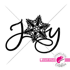 Joy Paper Snowflake svg png dxf eps jpeg SVG DXF PNG Cutting File