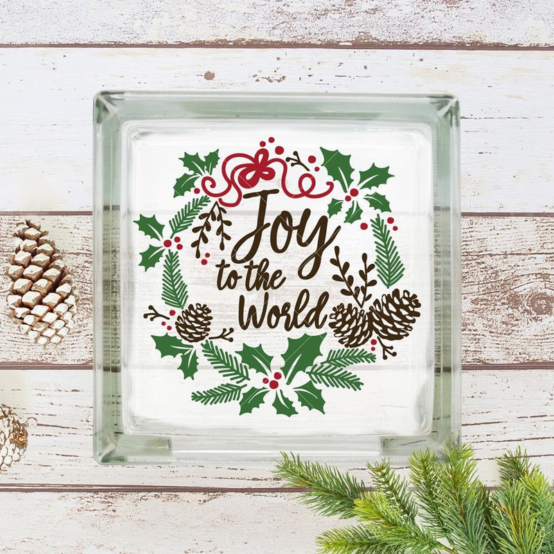 Joy To The World Wreath Svg Png Dxf Eps Svg Dxf Png Cutting File