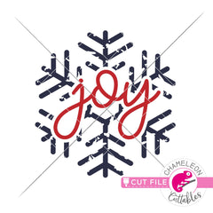 Joy Vintage frosty snowflake distressed svg png dxf eps jpeg SVG DXF PNG Cutting File
