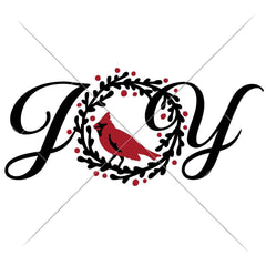 Joy With Cardinal Svg Png Dxf Eps Svg Dxf Png Cutting File