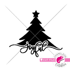 Joyful Christmas Tree svg png dxf eps jpeg SVG DXF PNG Cutting File