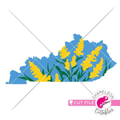 Kentucky state flower goldenrod layered svg png dxf eps jpeg SVG DXF PNG Cutting File