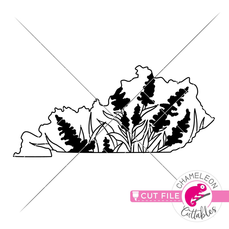Kentucky state flower goldenrod outline svg png dxf eps jpeg SVG DXF PNG Cutting File