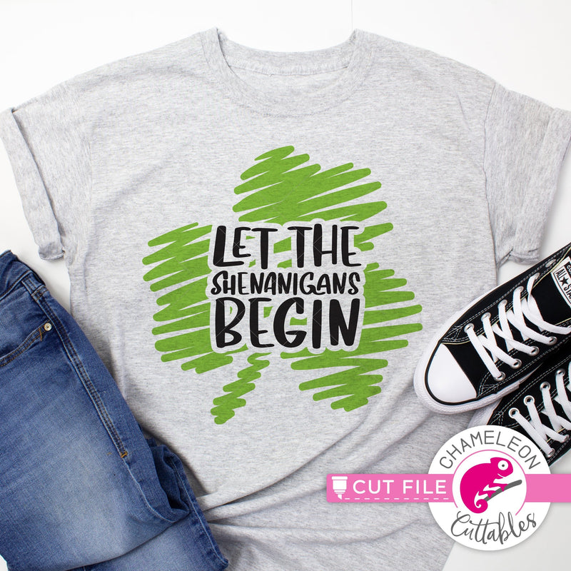 Let the shenanigans begin St. Patricks Day svg png dxf eps jpeg SVG DXF PNG Cutting File