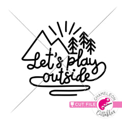 Lets play outside line drawing svg png dxf eps jpeg SVG DXF PNG Cutting File