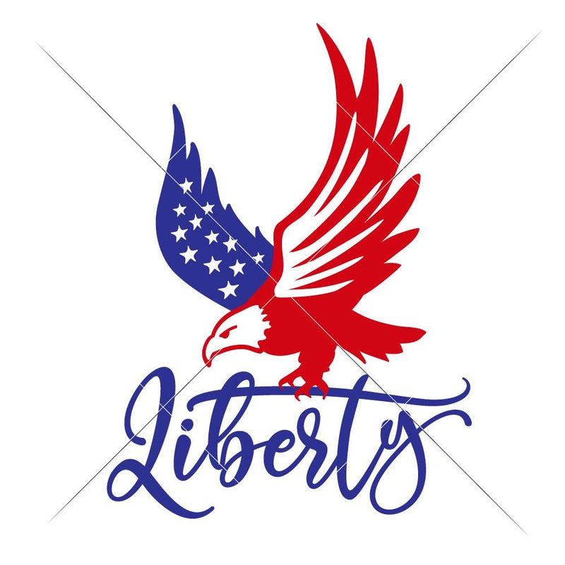 Liberty American Eagle Svg Png Dxf Eps Svg Dxf Png Cutting File